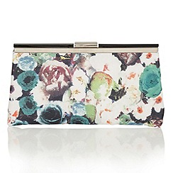 Lotus - Green floral 'Mable' matching bag