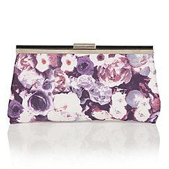 Lotus - Purple floral 'Mable' matching bag