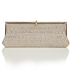 Lotus - Light gold diamante 'Allure' matching bag
