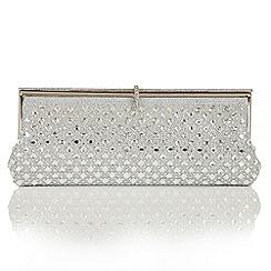 Lotus - Silver diamante 'Allure' matching bag