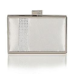 Lotus - Silver satin 'Rhiannon' matching bag