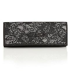 Lotus - Black satin 'Karolina' matching bag