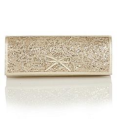 Lotus - Light gold satin 'Karolina' matching bag