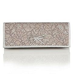 Lotus - Silver satin 'Karolina' matching bag