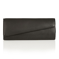 Lotus - Black leather 'Nancy' clutch bag
