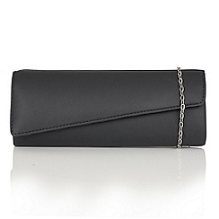 Lotus - Navy leather 'Nancy' clutch bag