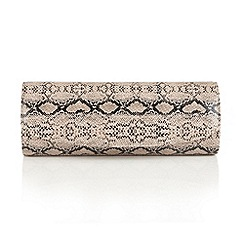 Lotus - Natural snake print 'Libby' matching bag