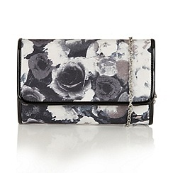 Lotus - Black floral 'Duvallier' clutch bag