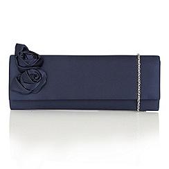 Lotus - Navy satin 'Lacey' clutch bag