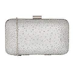 Lotus - Silver 'Lule' matching clutch bag