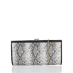 Lotus - Grey 'Flossie' matching clutch bag