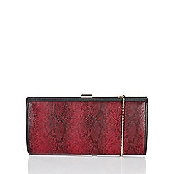 Lotus - Red 'Flossie' matching clutch bag