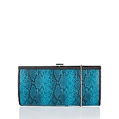 Lotus - Blue 'Flossie' matching clutch bag