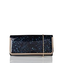 Lotus - Blue 'Camelia' matching clutch bag
