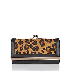 Lotus - Black leather 'Danica' matching clutch bag