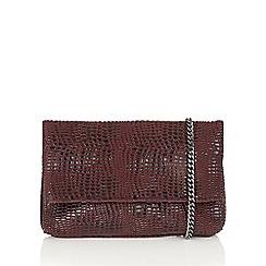 Lotus - Red 'Leaf' matching handbag