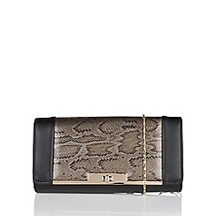 Lotus - Black 'Kamalei' matching clutch bag
