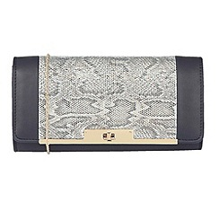 Lotus - Blue 'Kamalei' matching clutch bag