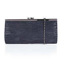 Lotus - Blue leather 'Clove' matching clutch bag