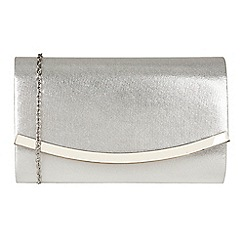 Lotus - Silver 'Hester' matching clutch bag
