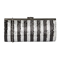 Lotus - Black 'Spinale' matching clutch bags