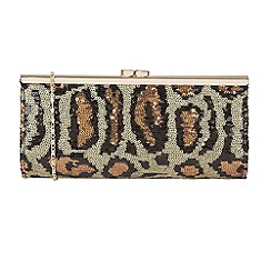 Lotus - Leopard 'Spinale' matching clutch bags