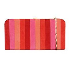Lotus - Red 'Sheraton' matching clutch bags