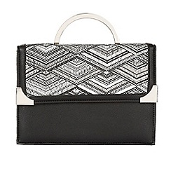 Lotus - Black multi 'Draven' hand held bags