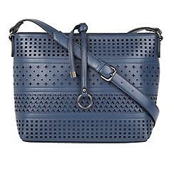 Lotus - Navy 'Houston' shoulder bags