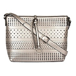 Lotus - Pewter metallic 'Houston' shoulder bags