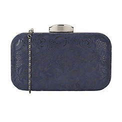 Lotus - Navy 'Puffin' matching clutch bags