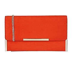 Lotus - Orange 'Flamina' clutch bags