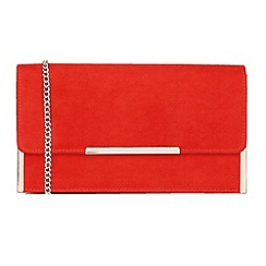 Lotus - Red 'Flamina' matching clutch bags