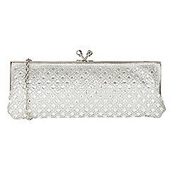 Lotus - Silver 'Zilar' matching clutch bag