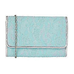 Lotus - Blue 'Orval' matching clutch bag