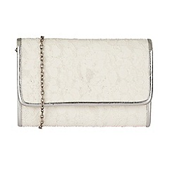 Lotus - White 'Orval' matching clutch bag
