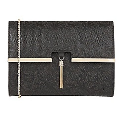 Lotus - Black 'Castor' matching clutch bags