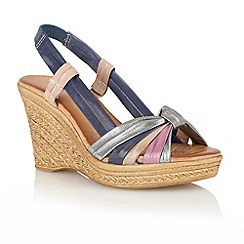 Lotus - Blue multi 'Ashwan' open toe sandals