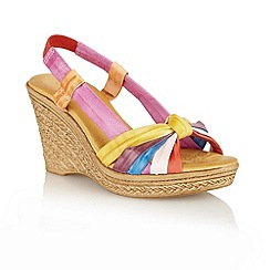 Lotus - Multi bright 'Ashwan' open toe sandals