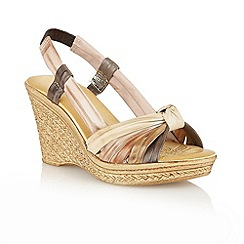 Lotus - Natural 'Ashwan' open toe sandals