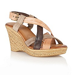 Lotus - Stone multi 'Murcia' open toe sandals
