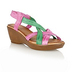 Lotus - Fuchsia multi 'Cadiz' open toe sandals