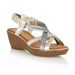 Lotus - Metallic multi 'Cadiz' open toe sandals