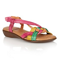 Lotus - Fuchsia multi 'Zaragoza' open toe sandals