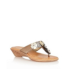 Lotus - Bronze 'Sicily' toe-post sandals