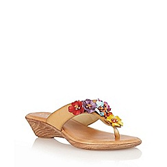 Lotus - Natural 'Sicily' toe-post sandals