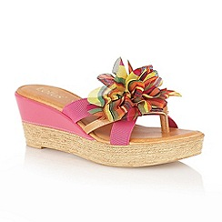 Lotus - Fuchsia 'Catania' toe-post sandals