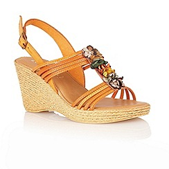 Lotus - Burnt orange 'Sardinia' open toe sandals
