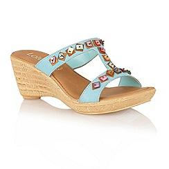 Lotus - Pale blue 'Comiso' open toe sandals