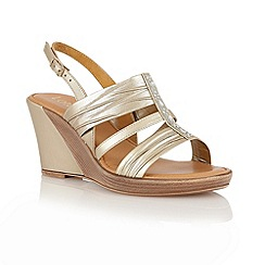 Lotus - Gold metallic 'Chilivani' open toe sandals